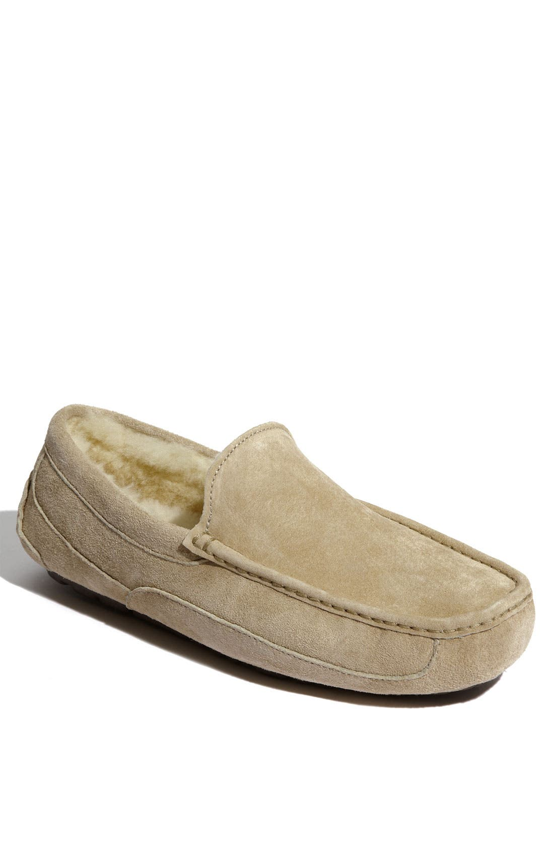 Main Image - UGG® Ascot Leather Slipper (Men)