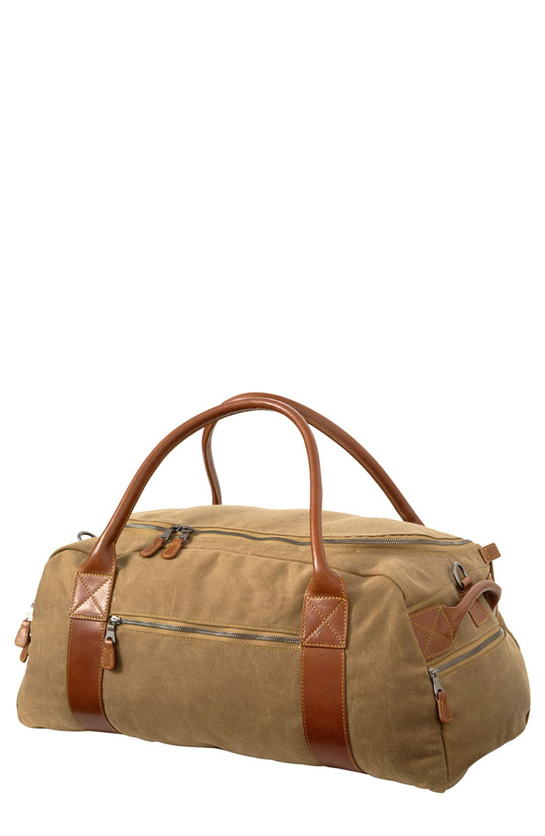 Alternate Image 1 Selected - Mulholland 'Oval' Waxed Canvas Duffel Bag