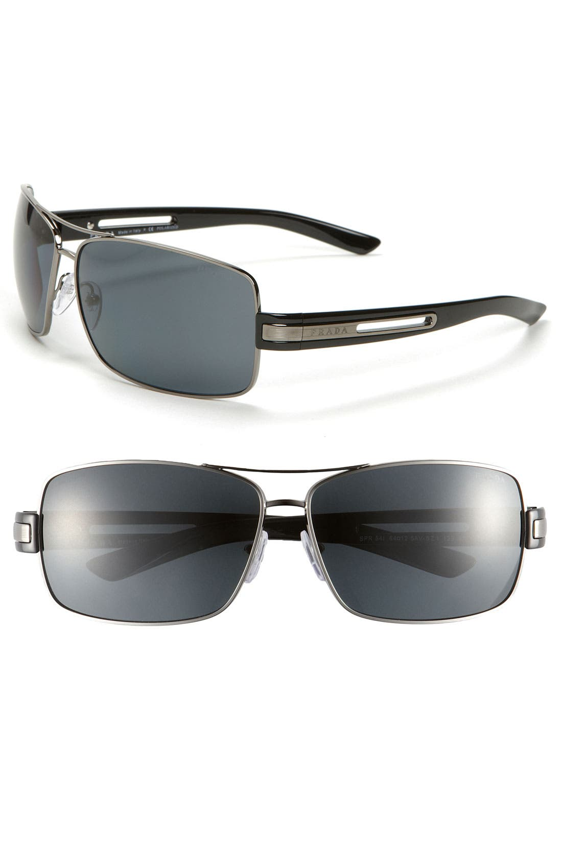 Alternate Image 1 Selected - Prada Polarized Aviator Sunglasses