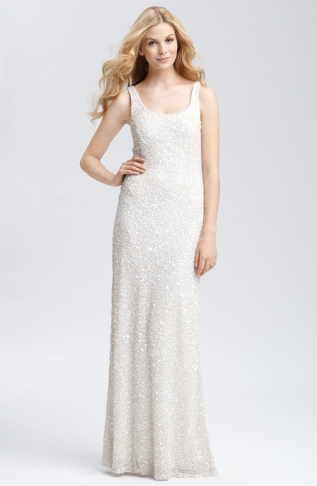 Alternate Image 1 Selected - Theia Beaded Sleeveless Gown