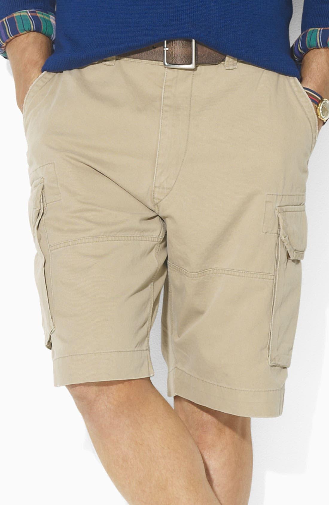 Alternate Image 1 Selected - Polo Ralph Lauren 'Gellar' Fatigue Cargo Shorts (Big & Tall)