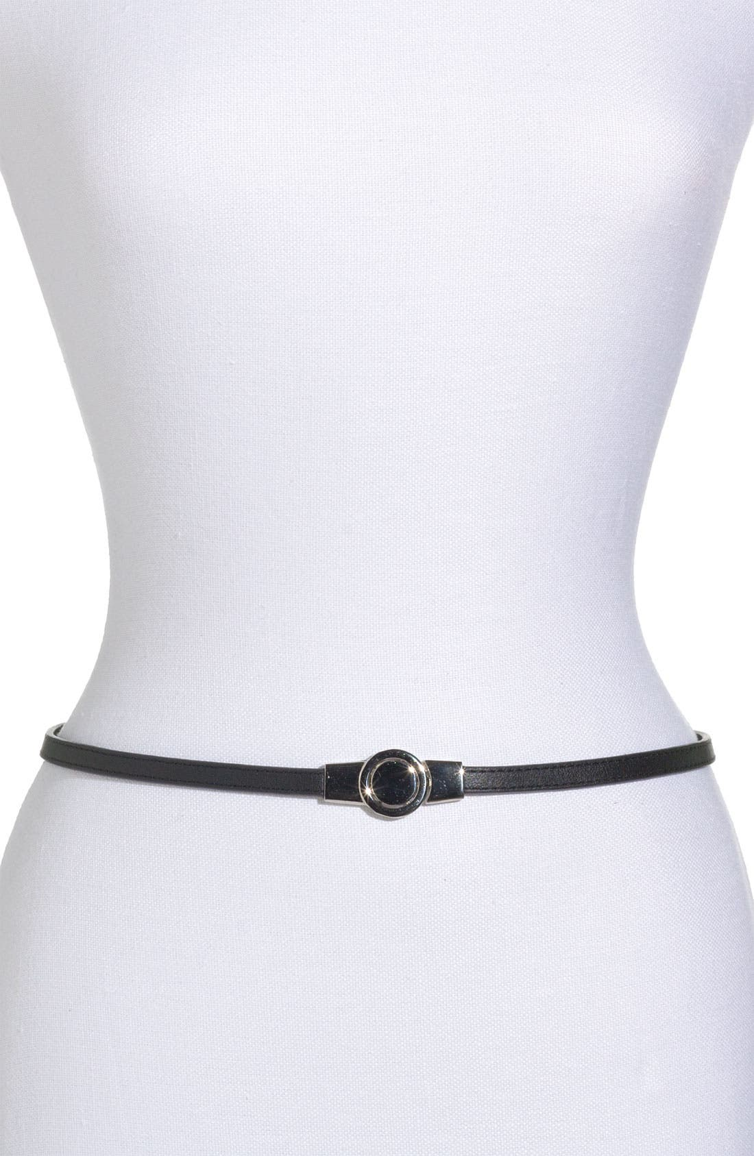Alternate Image 1 Selected - Lafayette 148 New York Skinny Leather Belt