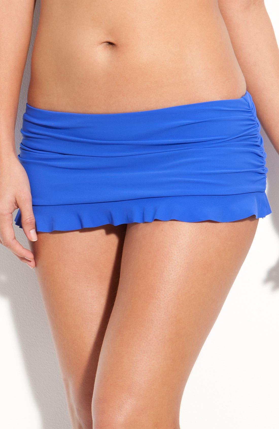 Main Image - Profile by Gottex 'Tutti Frutti' Shirred Skirted Bikini Bottoms