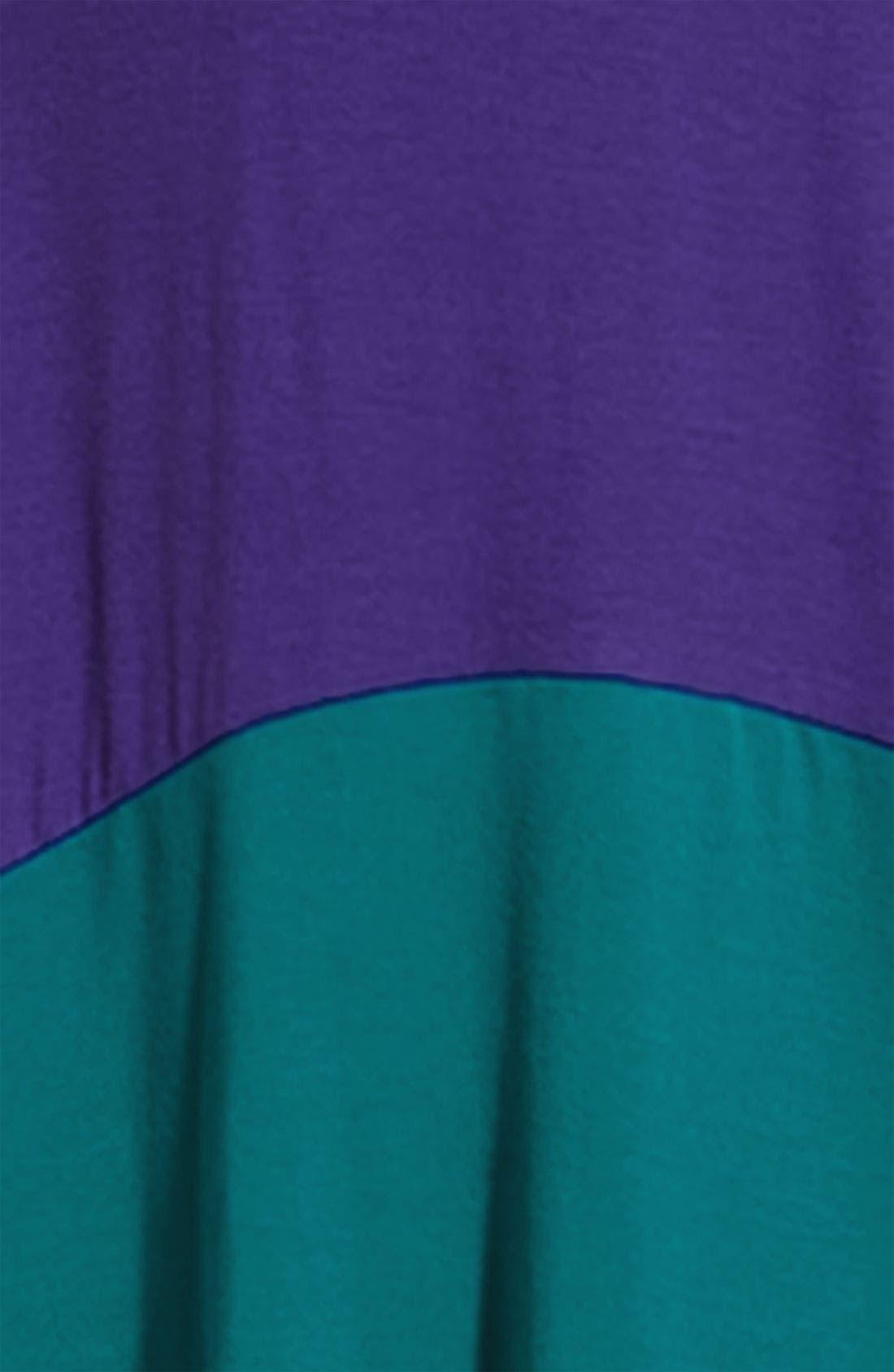 Alternate Image 2  - Sejour Asymmetric Hem Colorblock Dress (Plus)