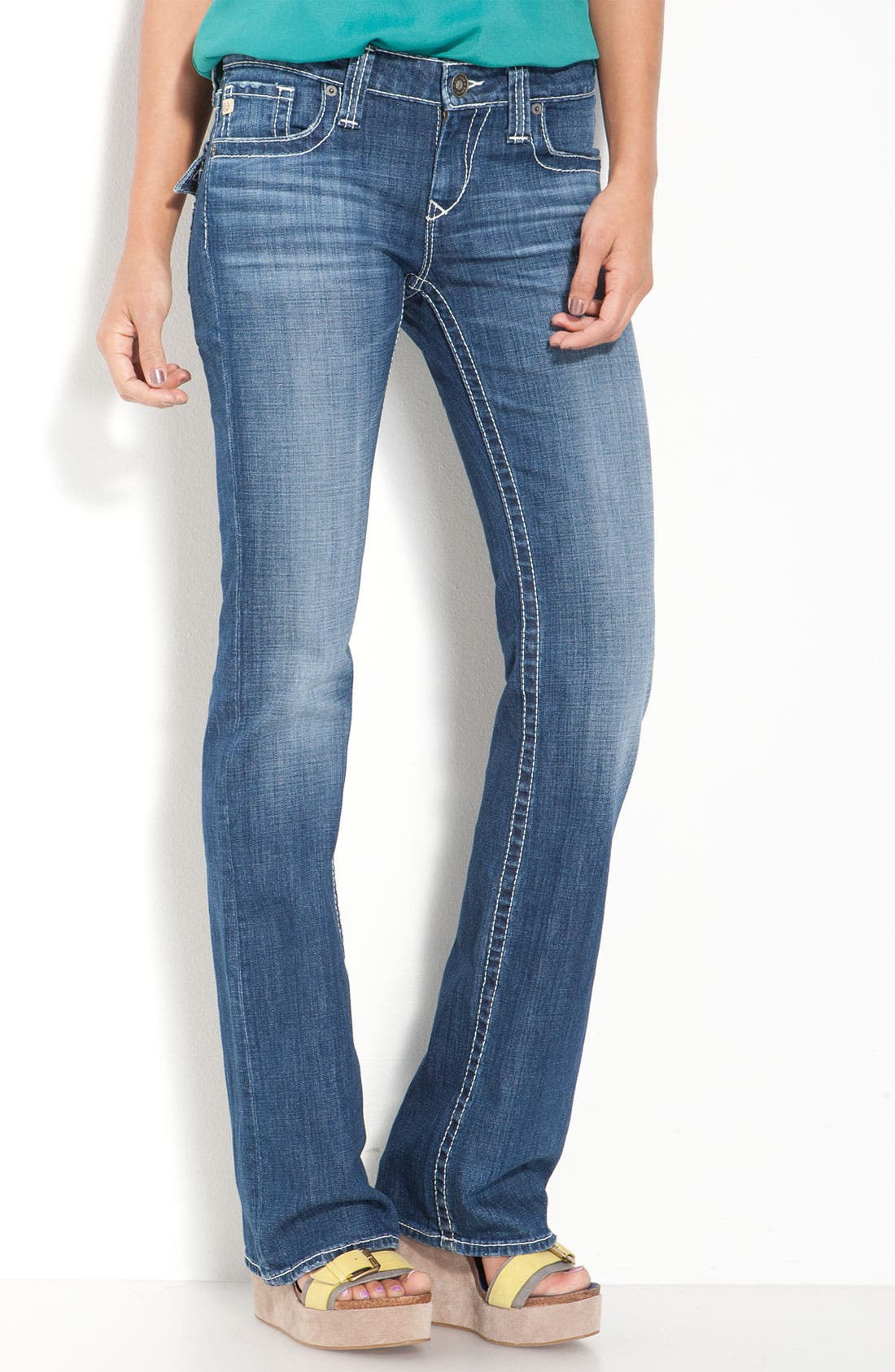 Alternate Image 2  - Big Star 'Remy' Bootcut Jeans (Junction Wash) (Juniors Regular & Long)