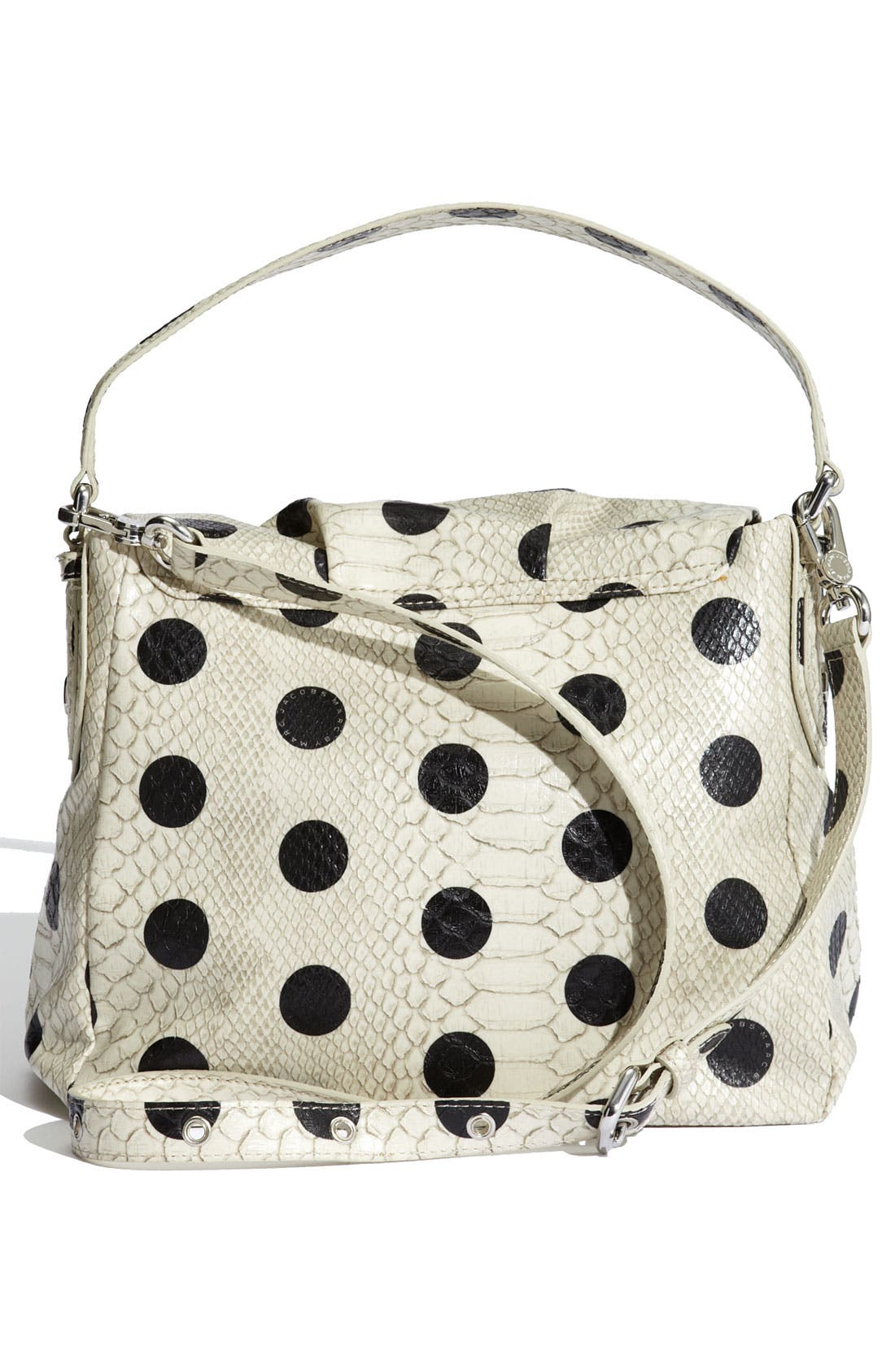 MARC BY MARC JACOBS 'Dotty Snake Little Ukita' Faux Leather Crossbody Bag,                             Alternate thumbnail 4, color,                             Linen Dot Multi