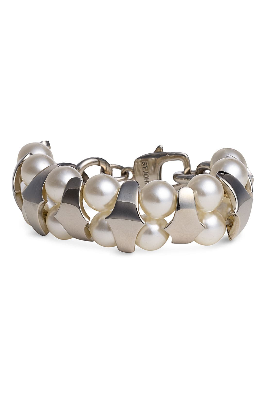 Alternate Image 1 Selected - St. John Collection Chain Link Bracelet with Acrylic Pearls