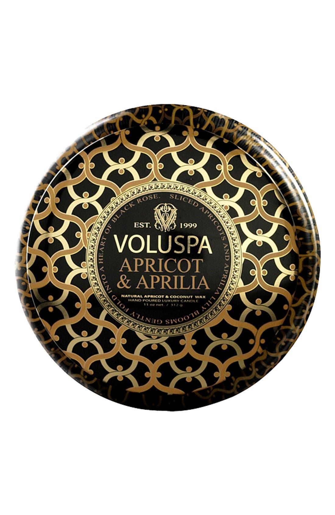 Main Image - Voluspa 'Maison Noir - Apricot & Aprilia' 2-Wick Scented Candle
