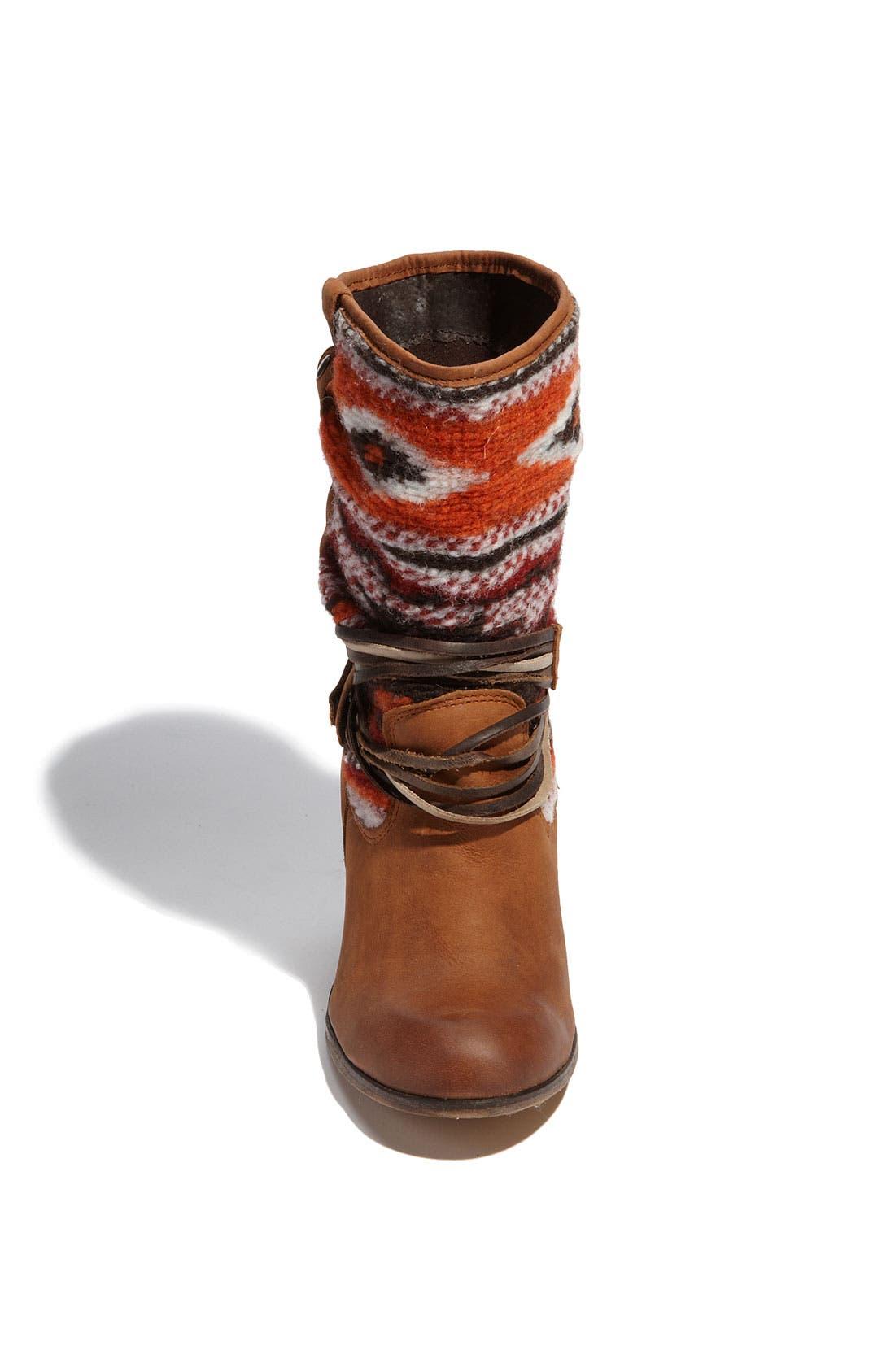 'Tolteca' Boot,                             Alternate thumbnail 3, color,                             Cognac Leather