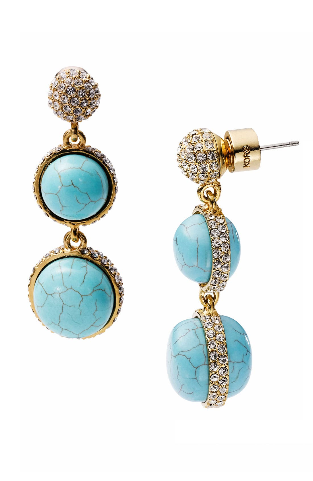 Alternate Image 1 Selected - Michael Kors 'Sleek Exotics' Double Drop Slice Earrings