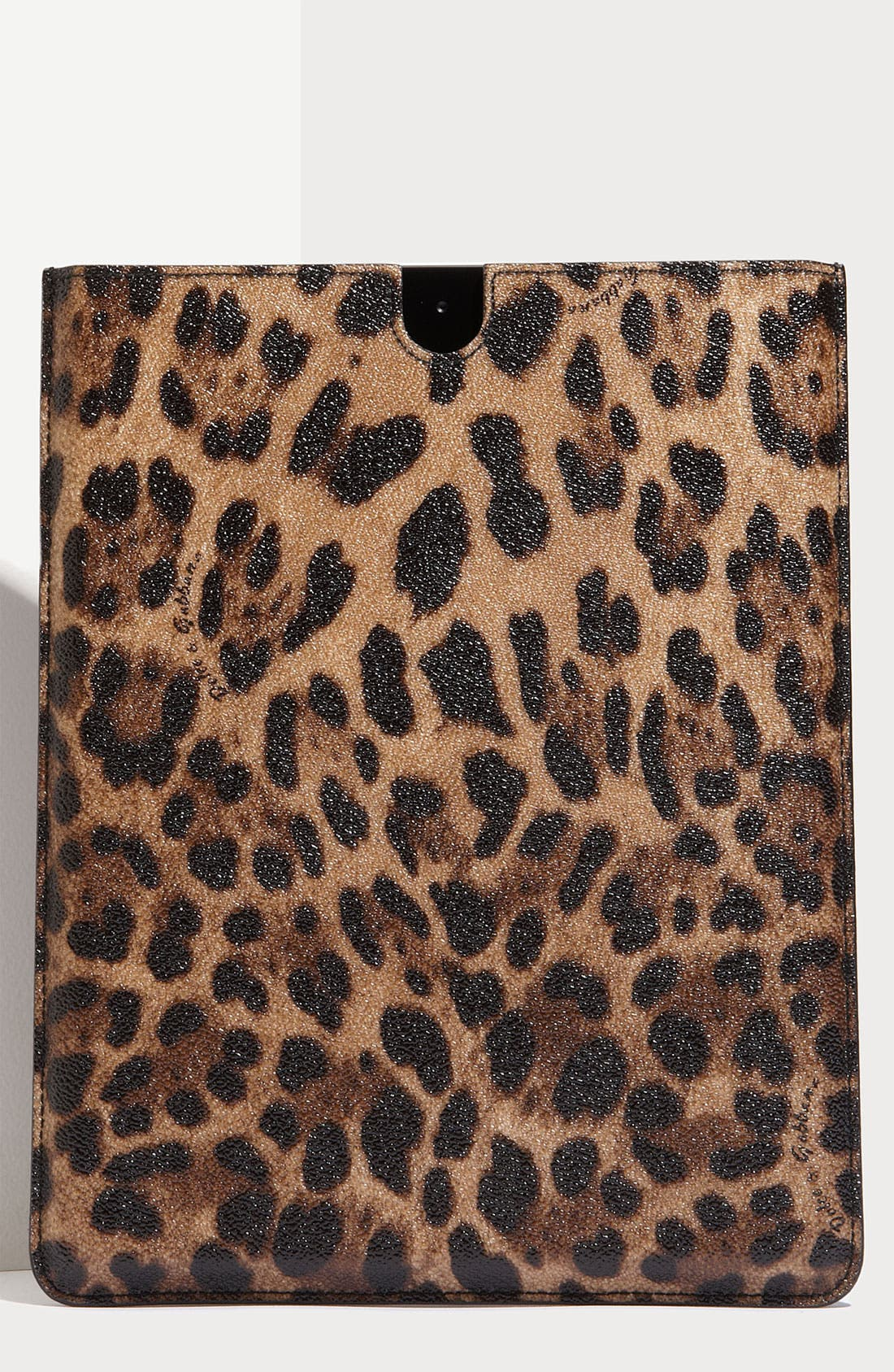 Alternate Image 1 Selected - Dolce&Gabbana Leopard Print iPad Case