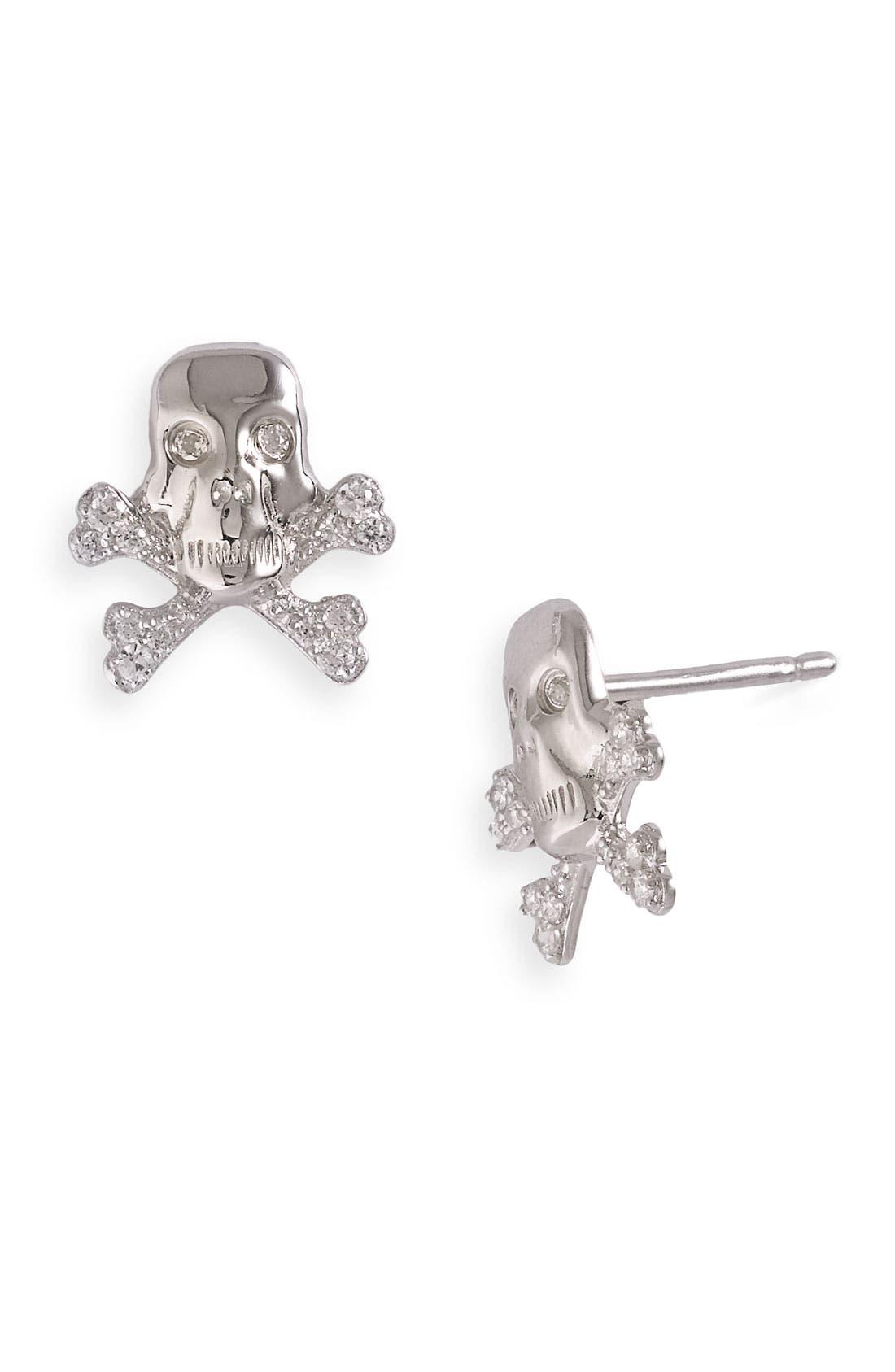 Main Image - Tom Binns 'Bejewelled Charm Offensive' Skull Stud Earrings