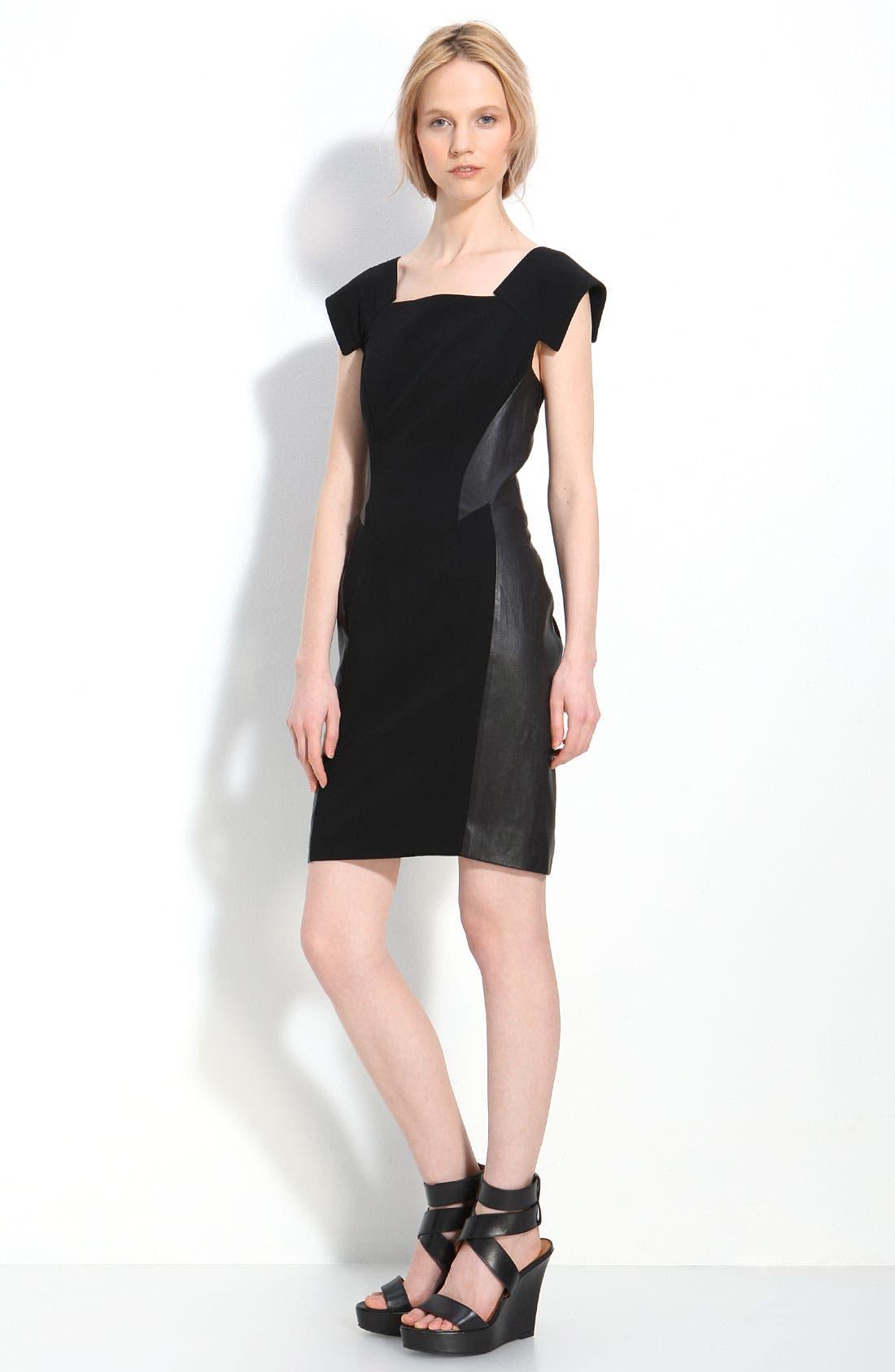 Main Image - rag & bone 'Surf' Leather Trim Dress