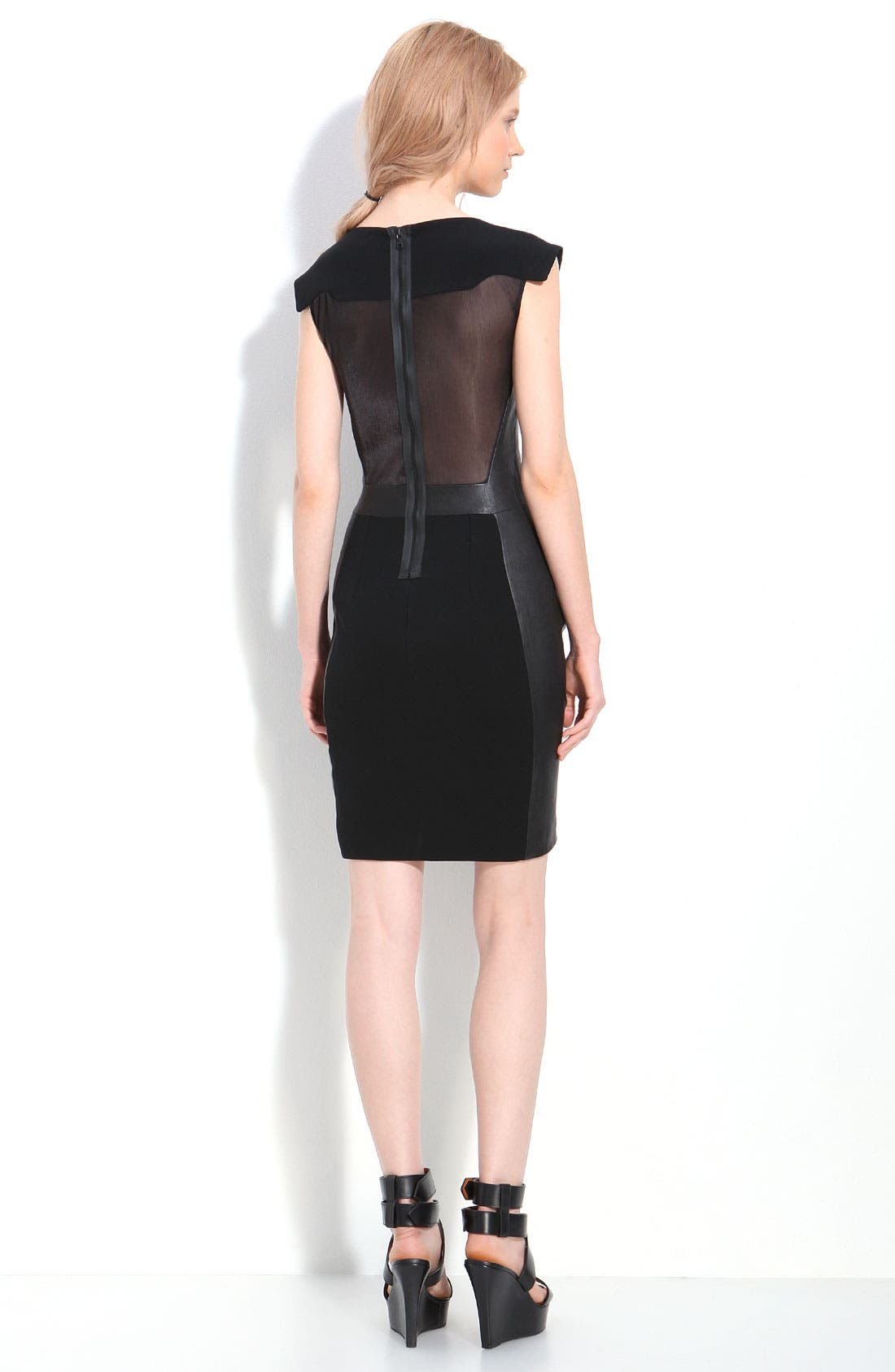Alternate Image 2  - rag & bone 'Surf' Leather Trim Dress