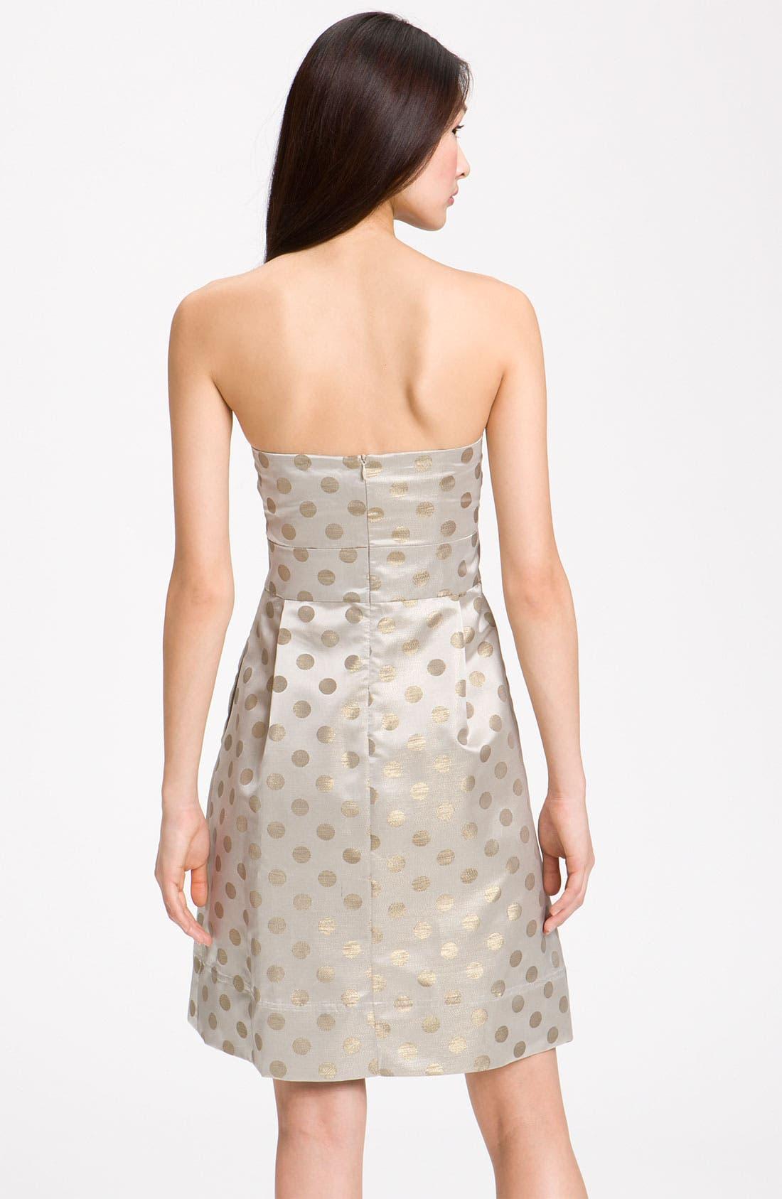 Alternate Image 2  - Eliza J Embellished Strapless Metallic Satin Dress