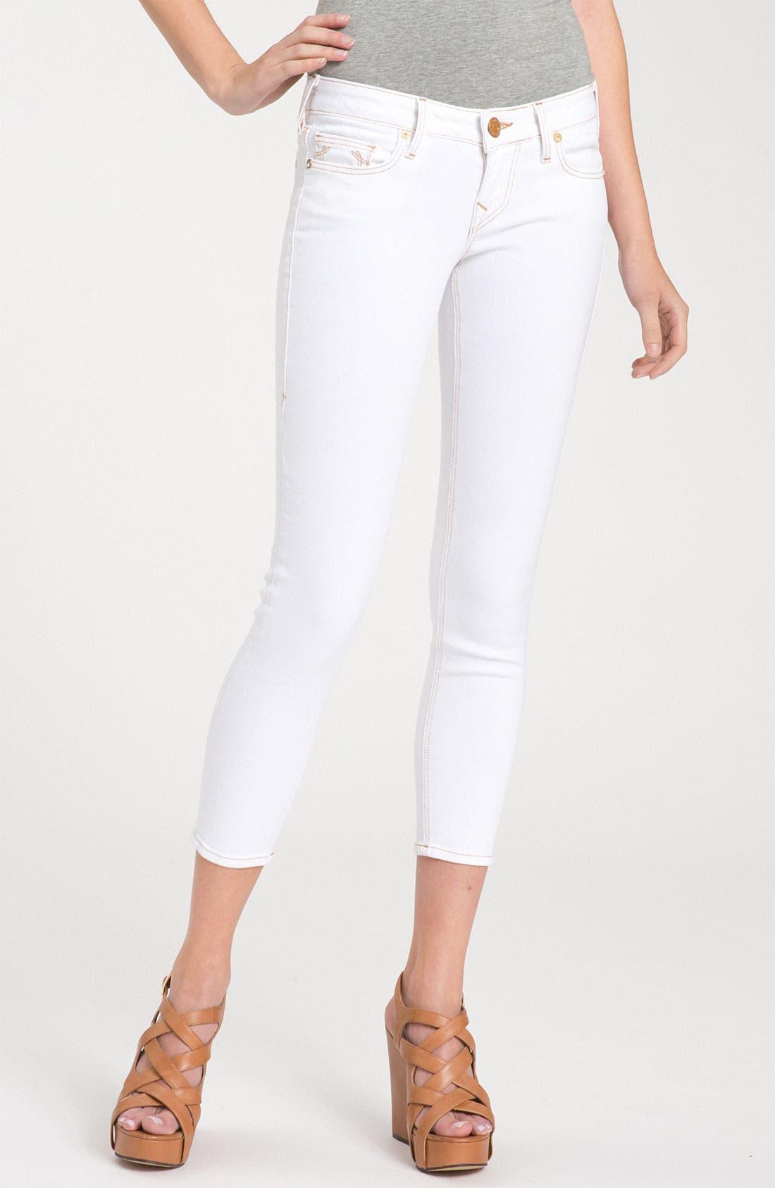 Alternate Image 2  - True Religion Brand Jeans 'Brooklyn' Skinny Crop Jeans (Optic White)