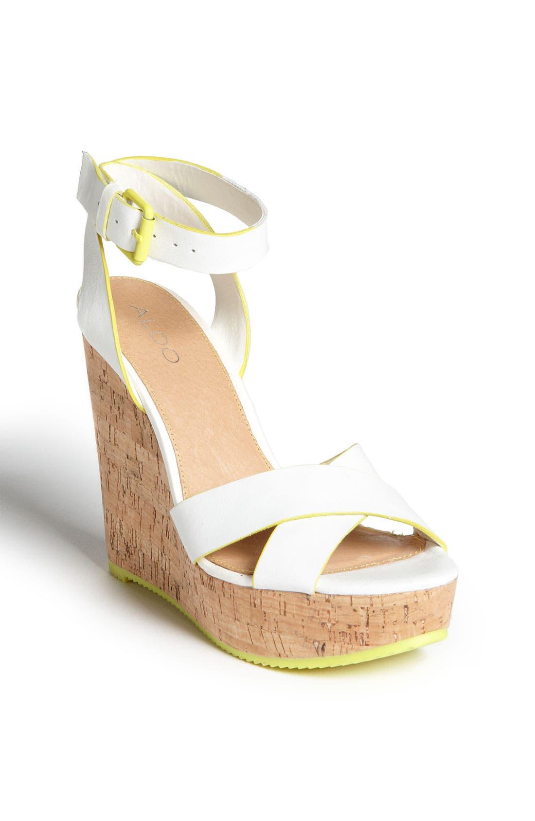 Alternate Image 1 Selected - ALDO 'Brimfield' Wedge Sandal