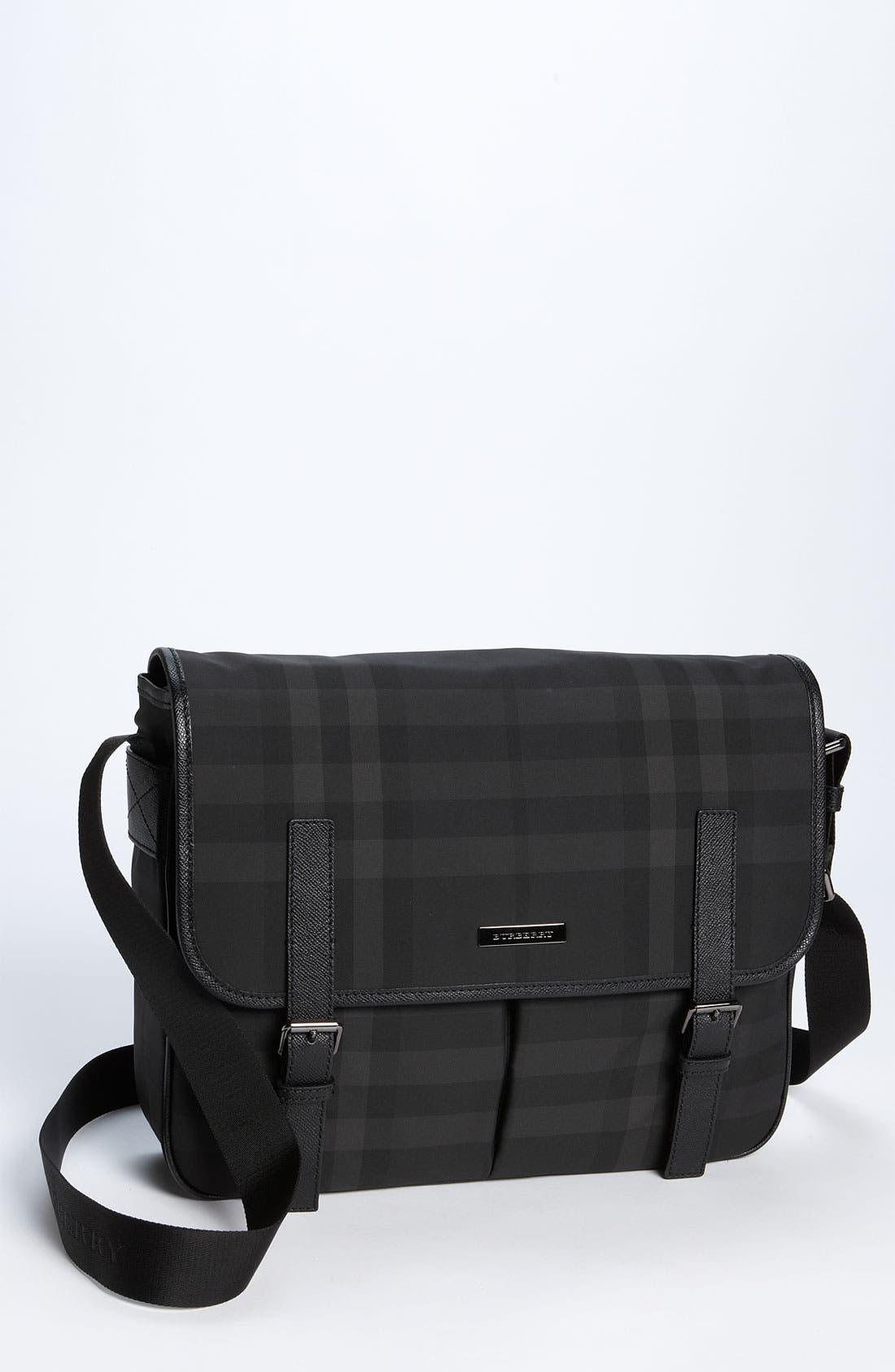 Main Image - Burberry Medium Check Messenger Bag