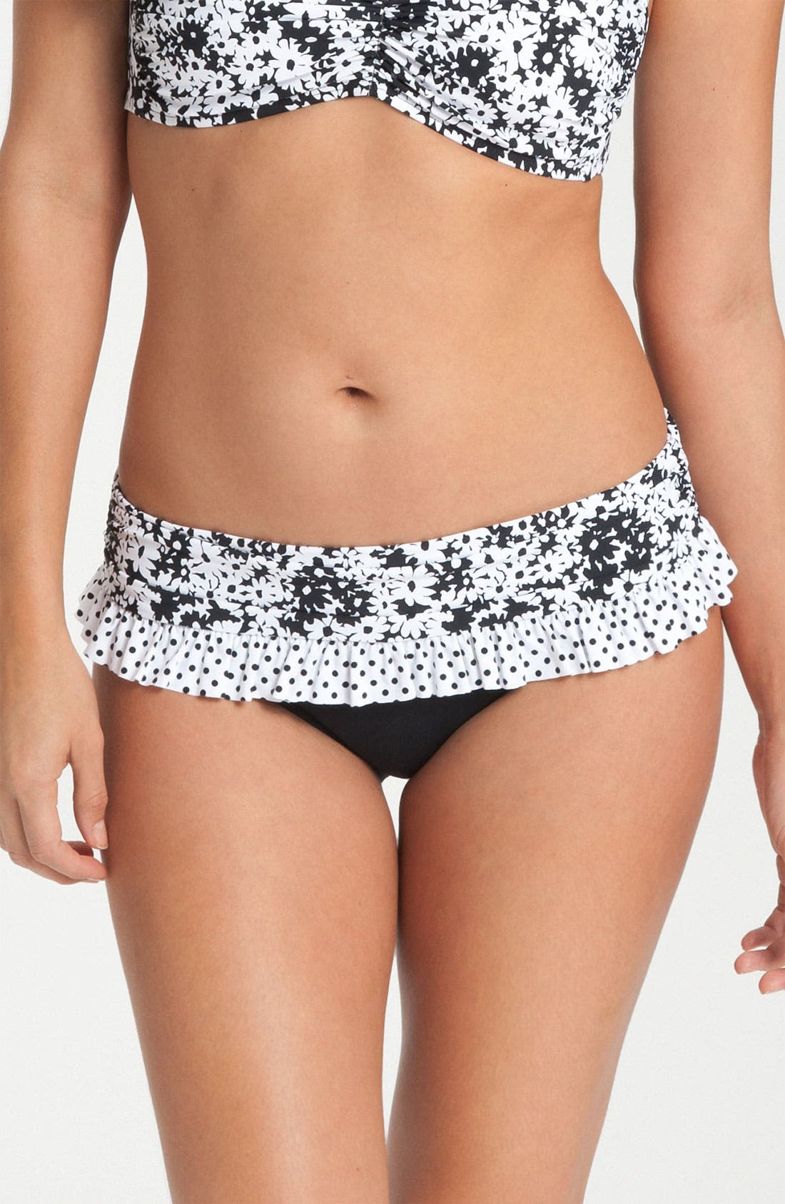 Main Image - BLEU Rod Beattie 'Opposites Attract' Ruffle Bikini Bottoms