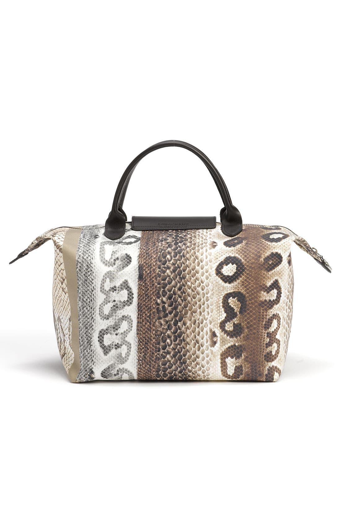 Alternate Image 4  - Longchamp 'Reptiligne Toile' Handbag