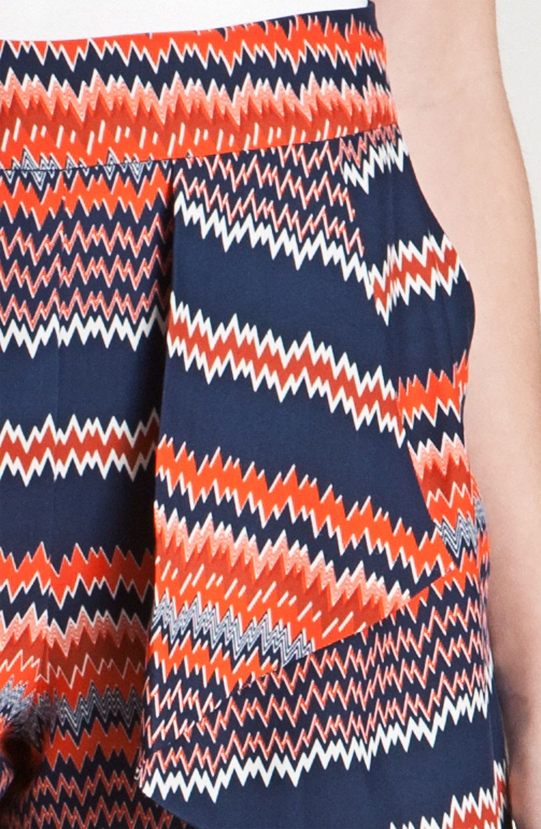 Alternate Image 3  - Parker Origami Ruffle Print Silk Shorts