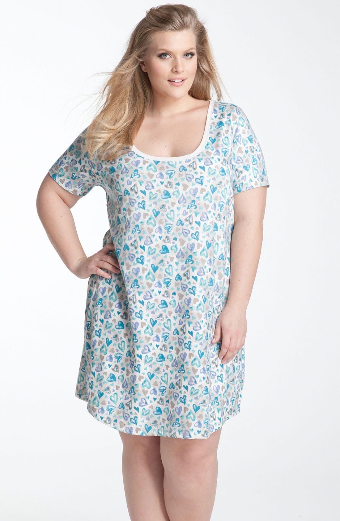 Main Image - Nordstrom Short Sleeve Sleep Shirt (Plus)