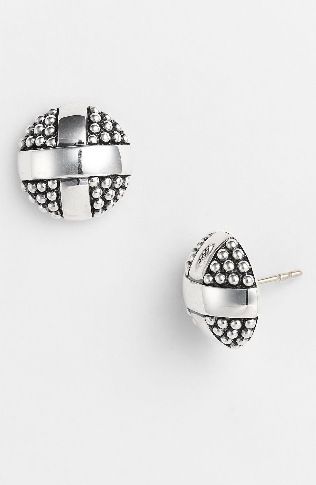 Main Image - LAGOS 'X' Round Two Tone Stud Earrings