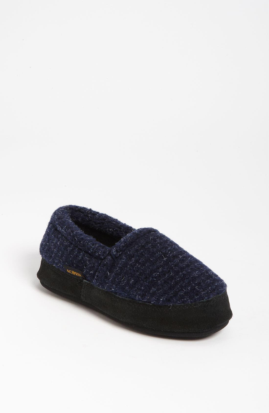 Alternate Image 1 Selected - Acorn 'Textured Moc' Slipper (Toddler, Little Kid & Big Kid)