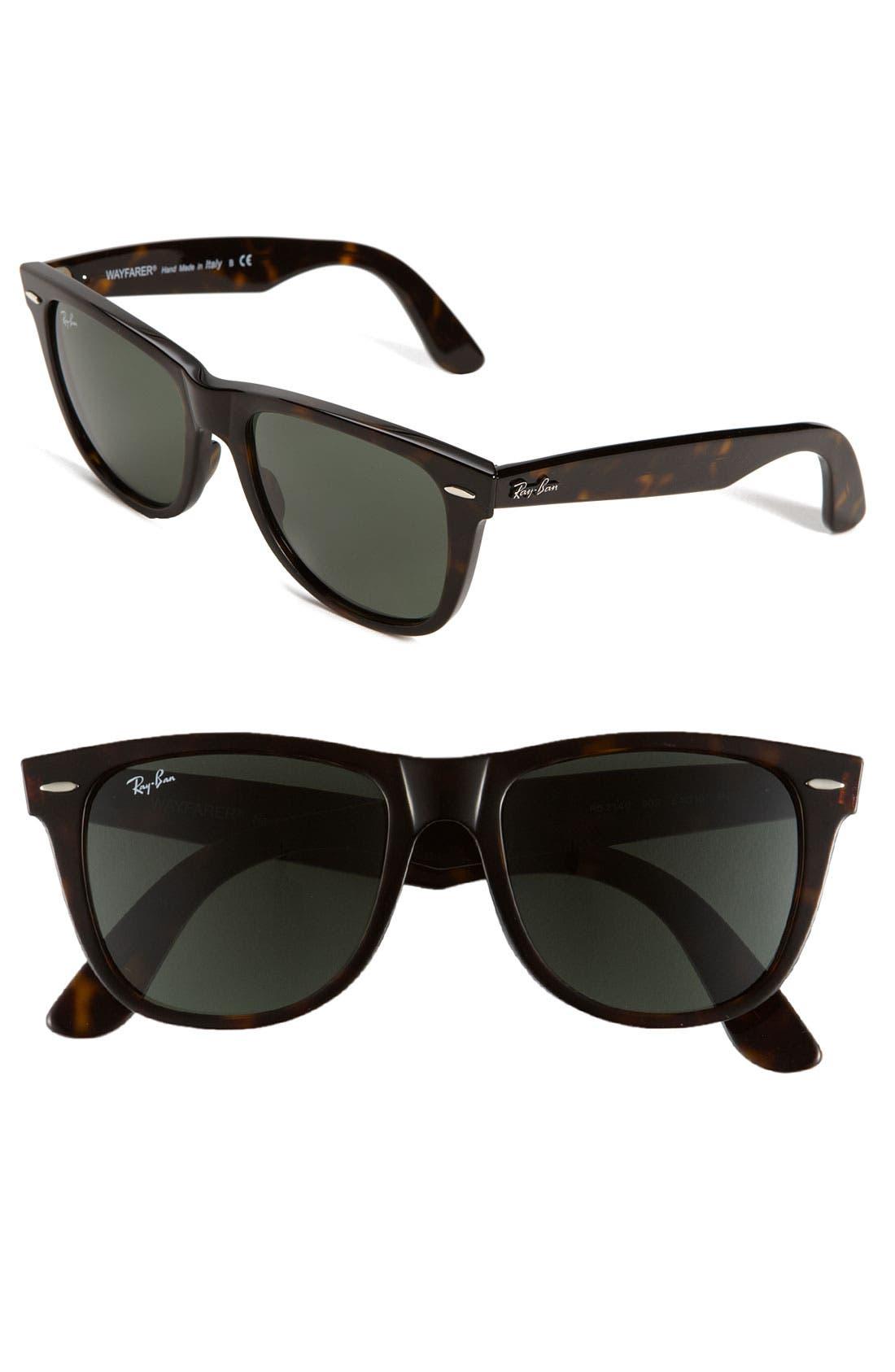 Classic Wayfarer 54mm Sunglasses,                         Main,                         color, Dark Tortoise