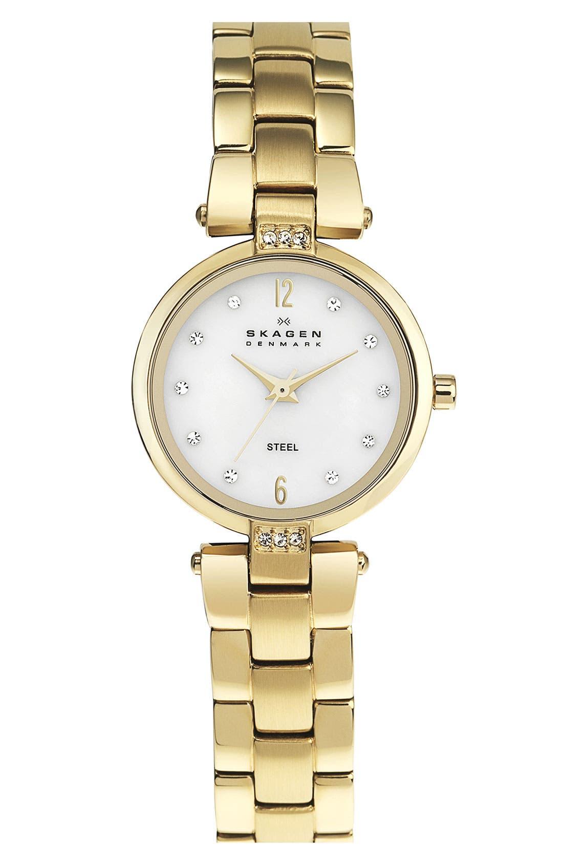 Alternate Image 1 Selected - Skagen Round Dial Bracelet Watch, 25mm