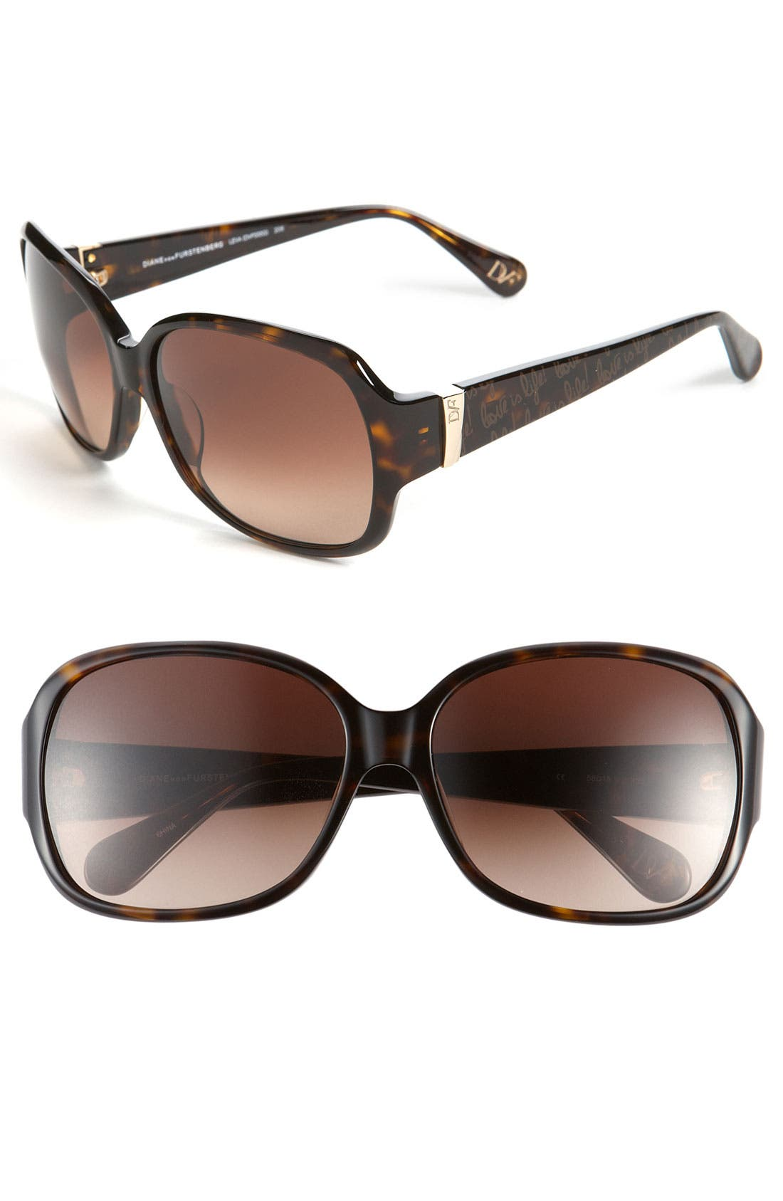 Alternate Image 1 Selected - Diane von Furstenberg 'Classic' Sunglasses