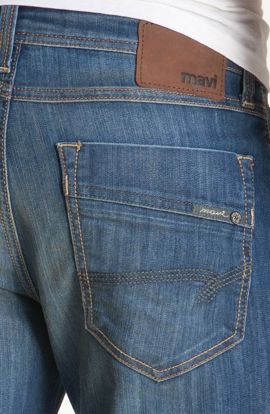 Alternate Image 3  - Mavi Jeans 'Zach' Straight Leg Jeans (Hazy Maui)