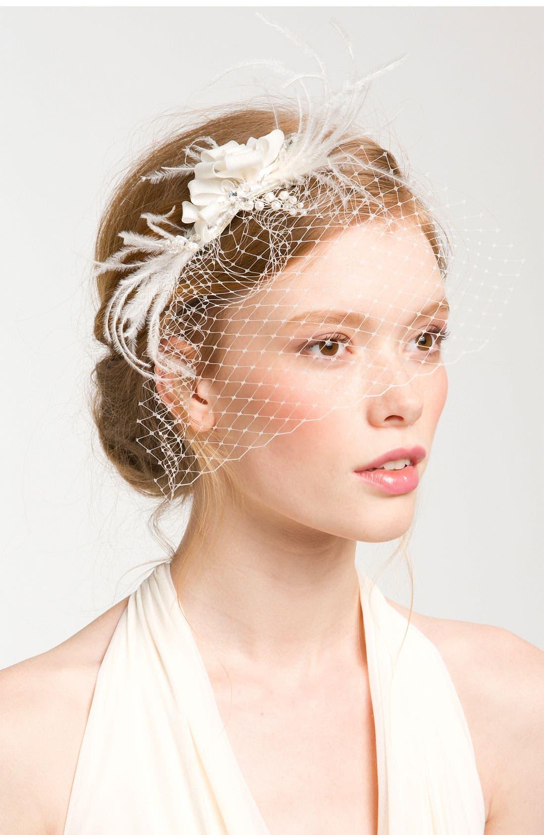 Main Image - Cara 'Whispering Flower' Veil Hair Comb