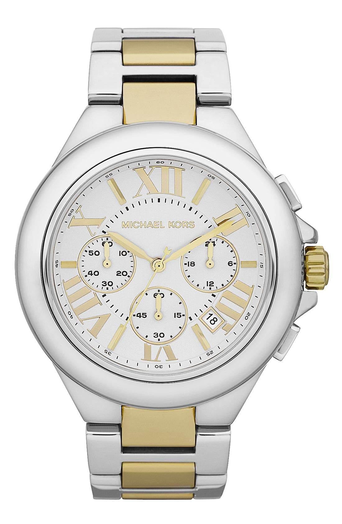 Main Image - Michael Kors 'Camille' Chronograph Bracelet Watch, 43mm