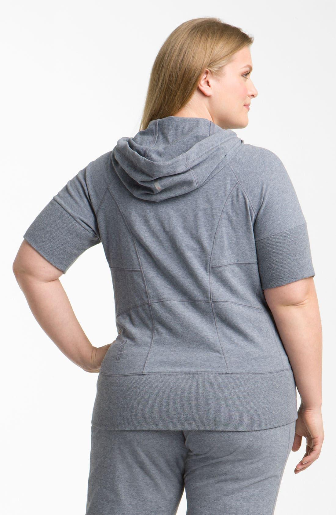 Alternate Image 2  - Zella 'Supersoft' Short Sleeve Hoodie (Plus)