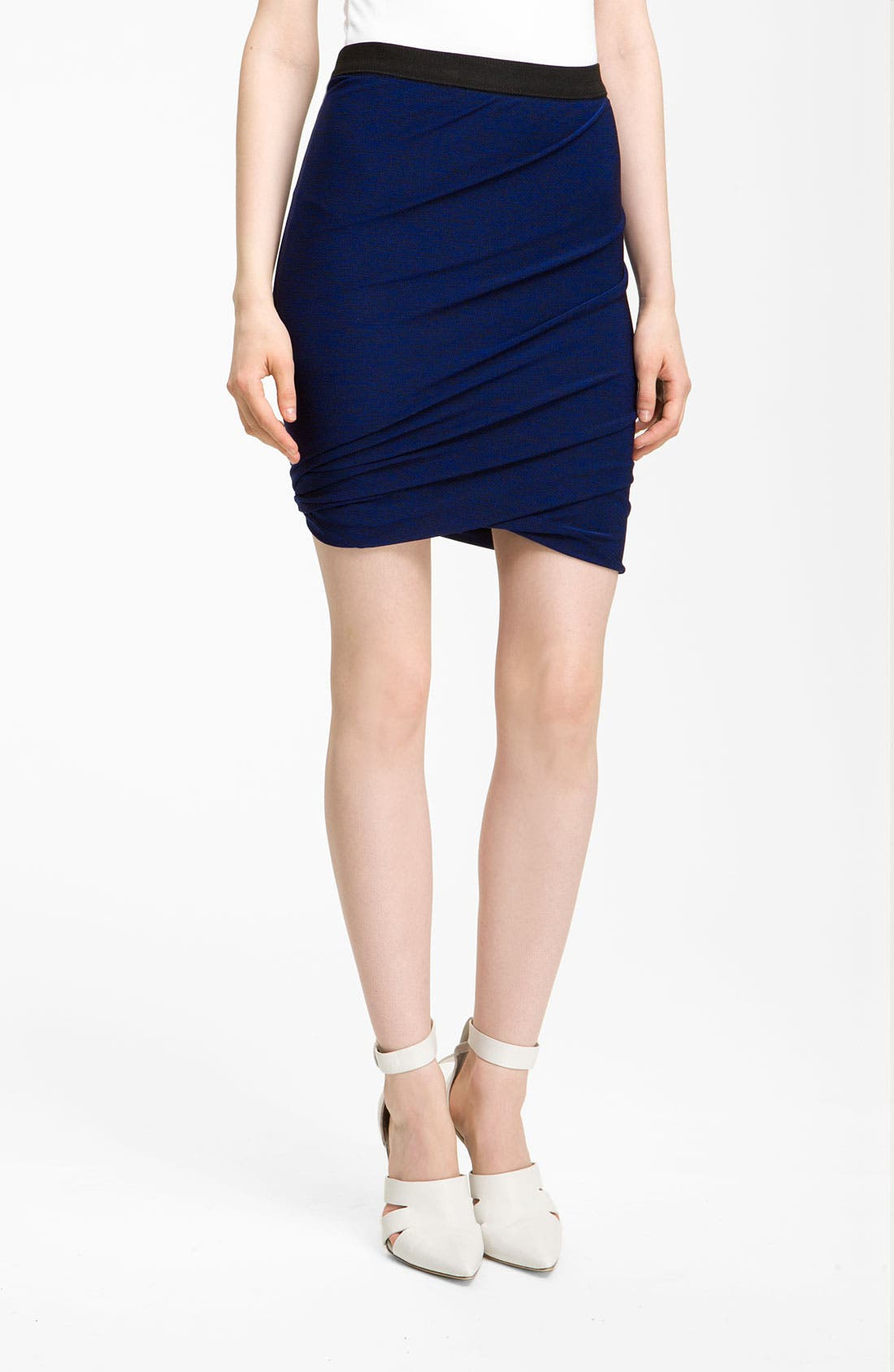 Alternate Image 1 Selected - T by Alexander Wang Marled Jersey Twist Skirt