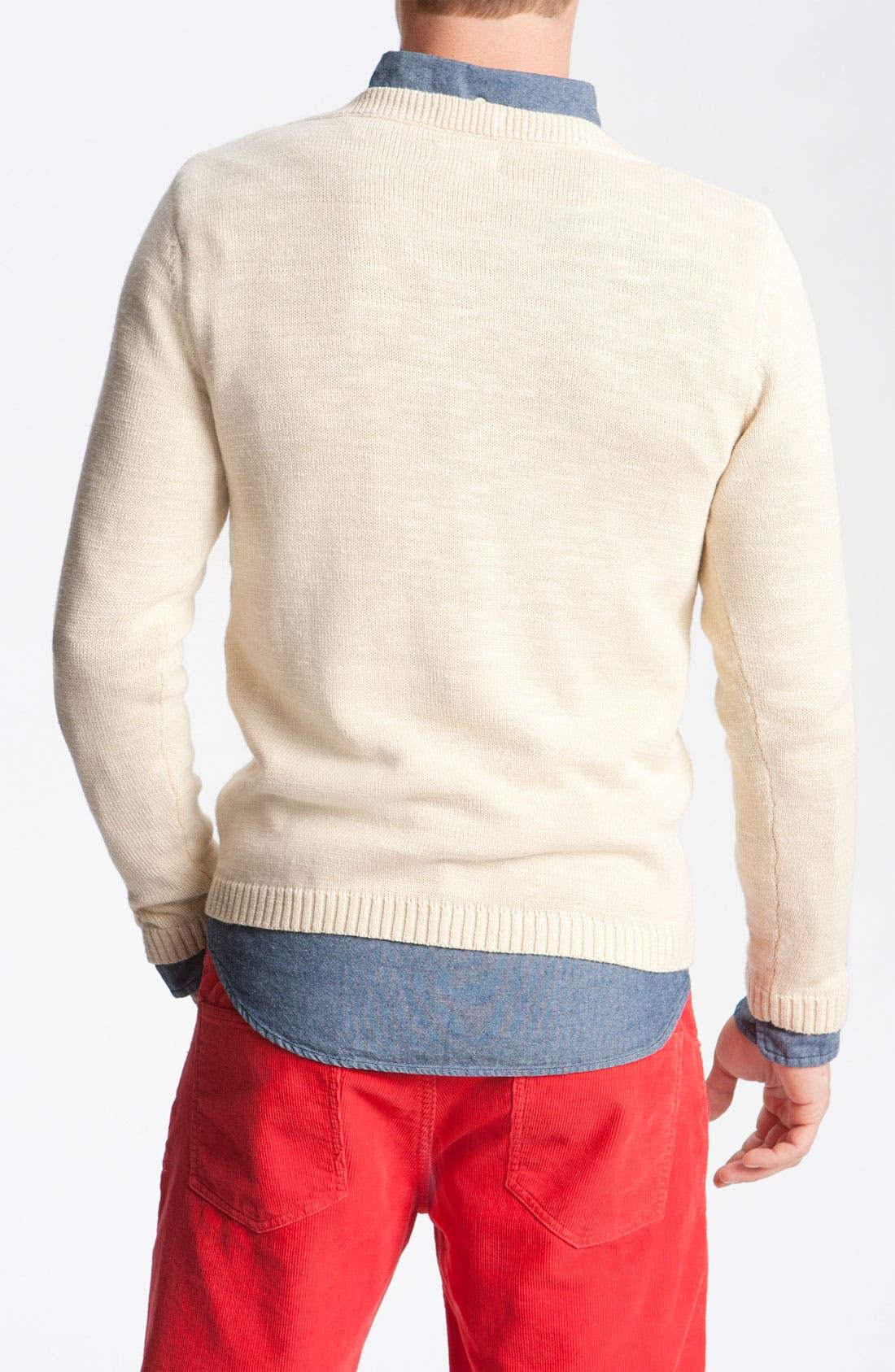 Alternate Image 2  - Gant Rugger Split Crewneck Sweater
