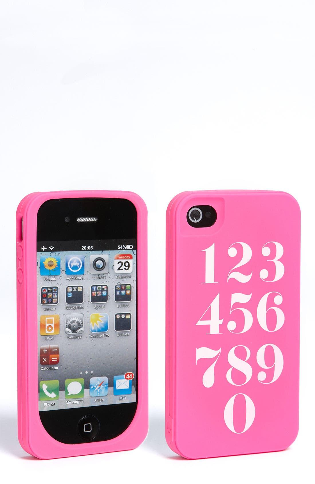 Main Image - kate spade new york 'call me crazy' iPhone 4 & 4S case
