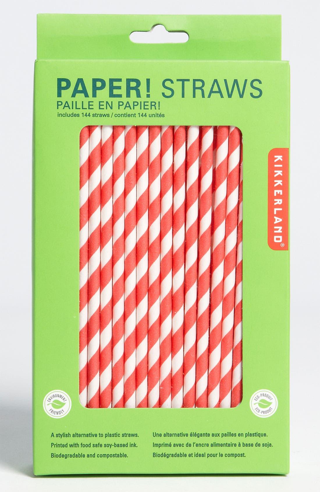 Main Image - Kikkerland Design Biodegradable Paper Straws