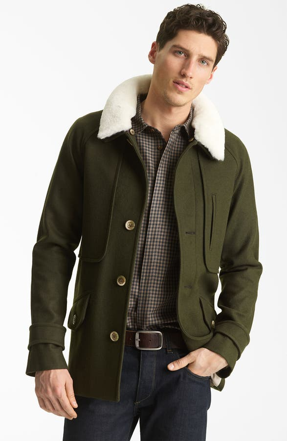 Pendleton Portland Collection 'Archive' Virgin Wool Coat with ...