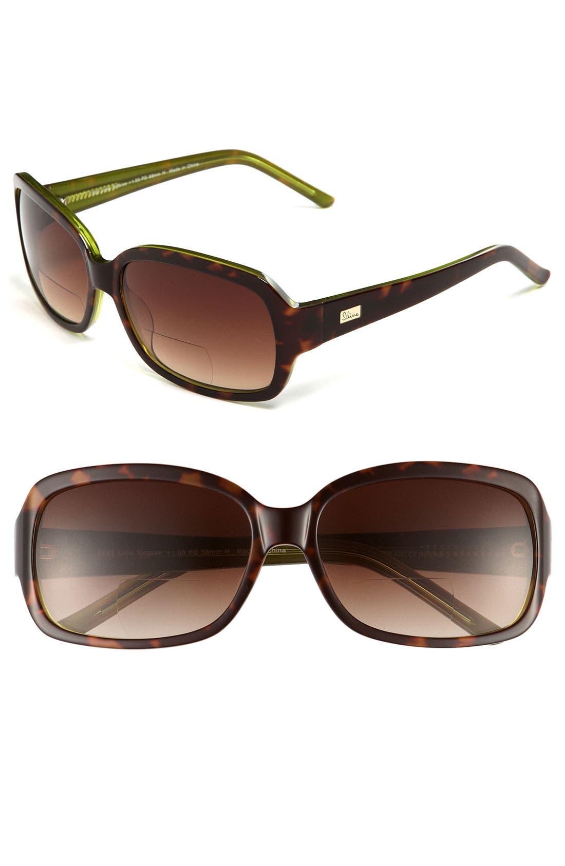 Alternate Image 1 Selected - I Line Eyewear 'Lime Tortoise' 60mm Reading Sunglasses