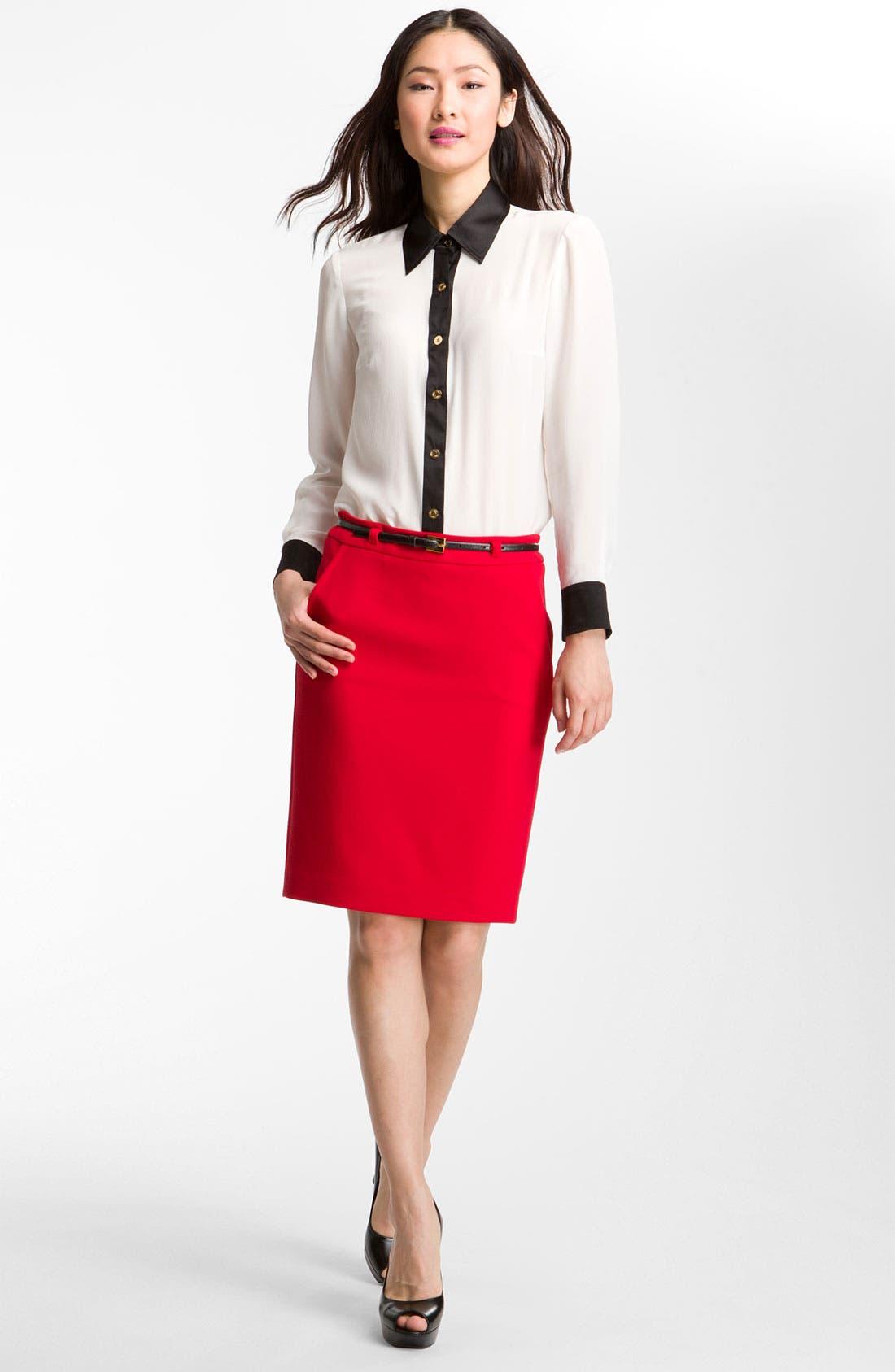 Alternate Image 3  - Trina Turk 'Carrlyne 2' Contrast Trim Shirt