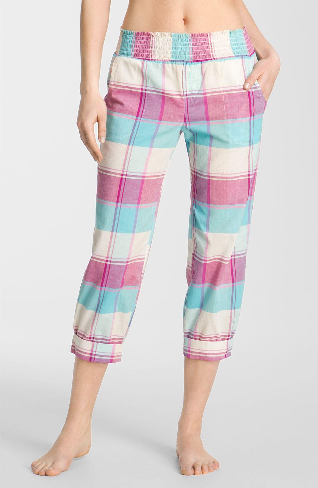 Alternate Image 1 Selected - Make + Model Smock Waist Lounge Pants