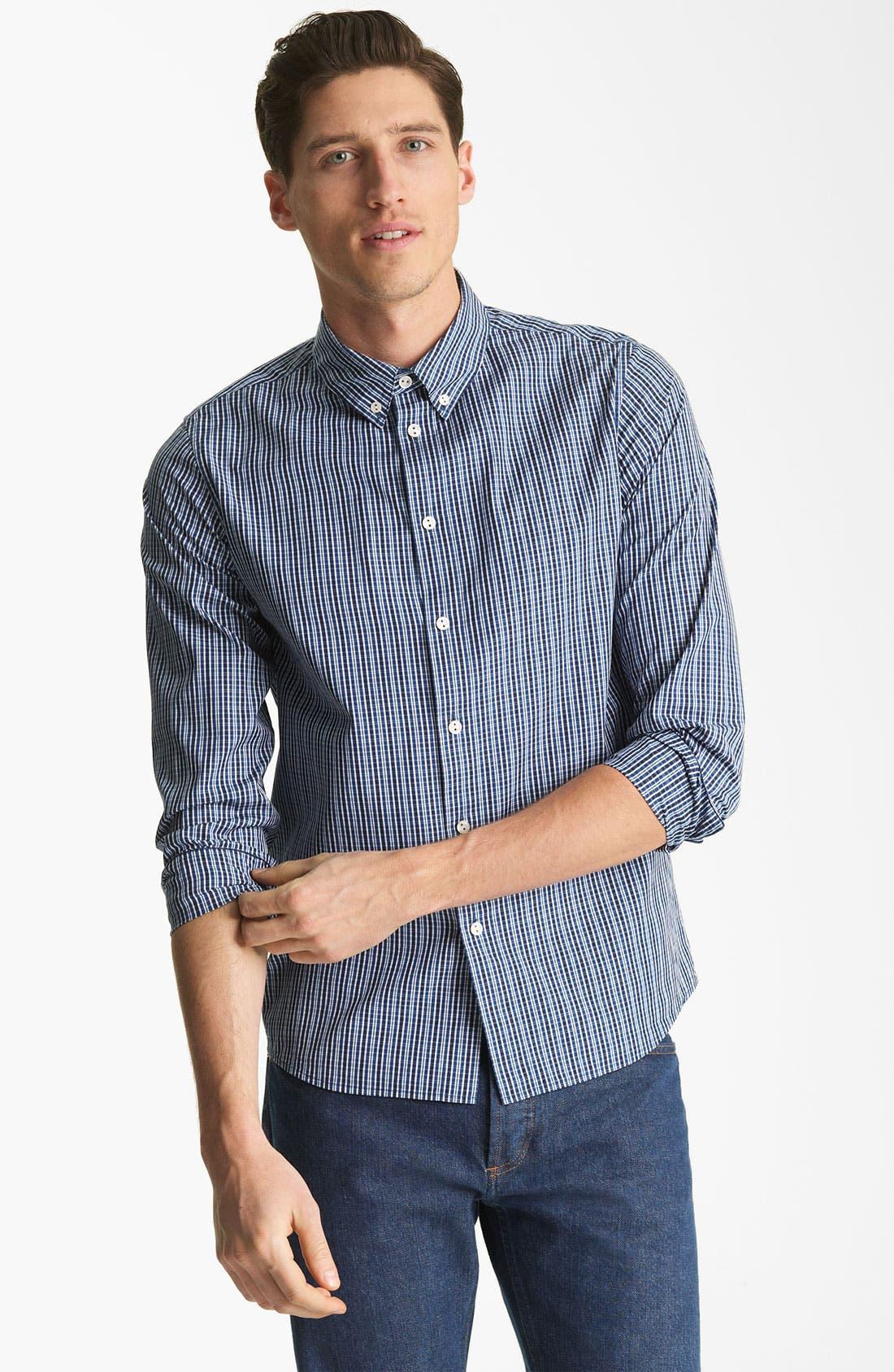 Alternate Image 1 Selected - A.P.C. Plaid Cotton Shirt