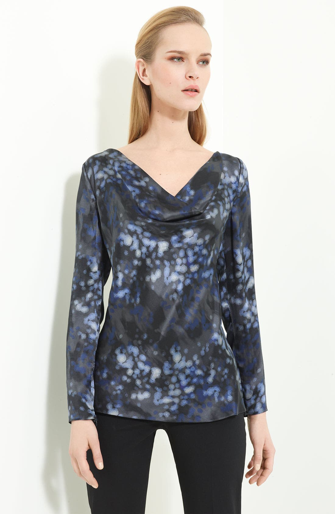 Alternate Image 1 Selected - Armani Collezioni Abstract Print Silk Blouse