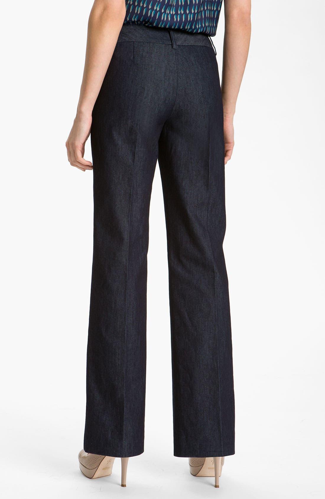 Alternate Image 2  - Halogen® 'Taylor' Curvy Fit Denim Pants