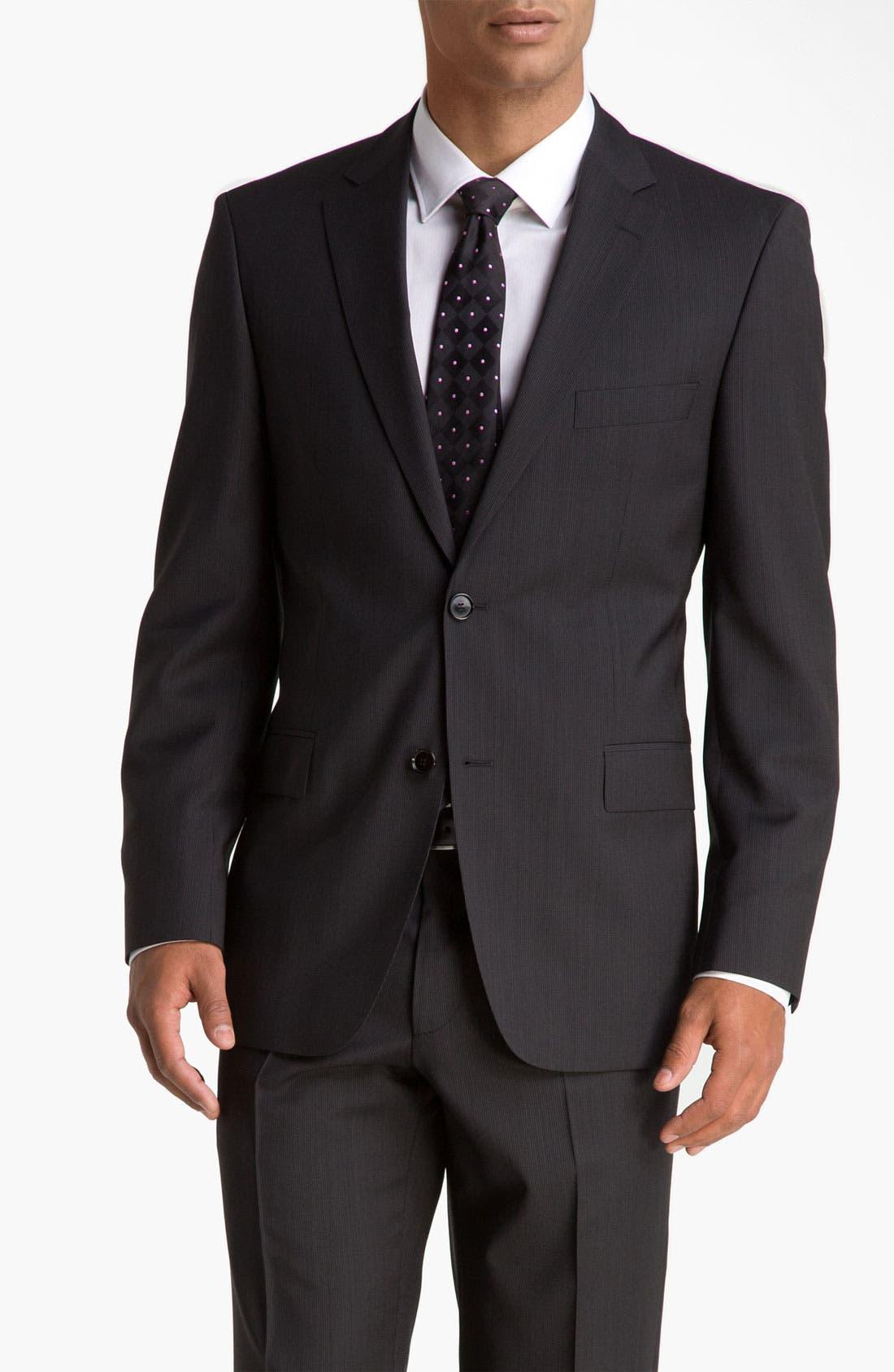 Alternate Image 1 Selected - BOSS Black 'Pasini/Movie' Stripe Suit