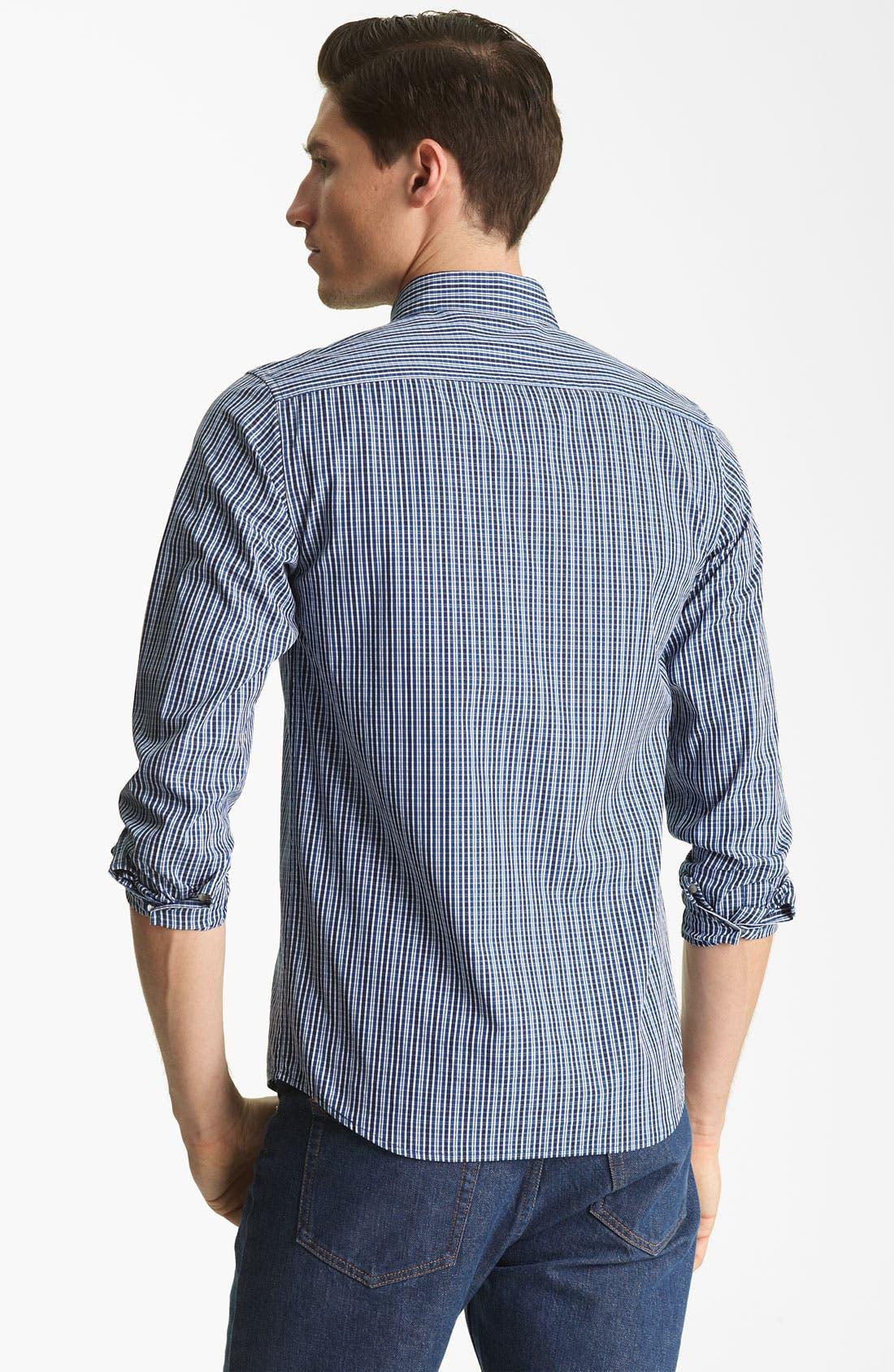 Alternate Image 2  - A.P.C. Plaid Cotton Shirt