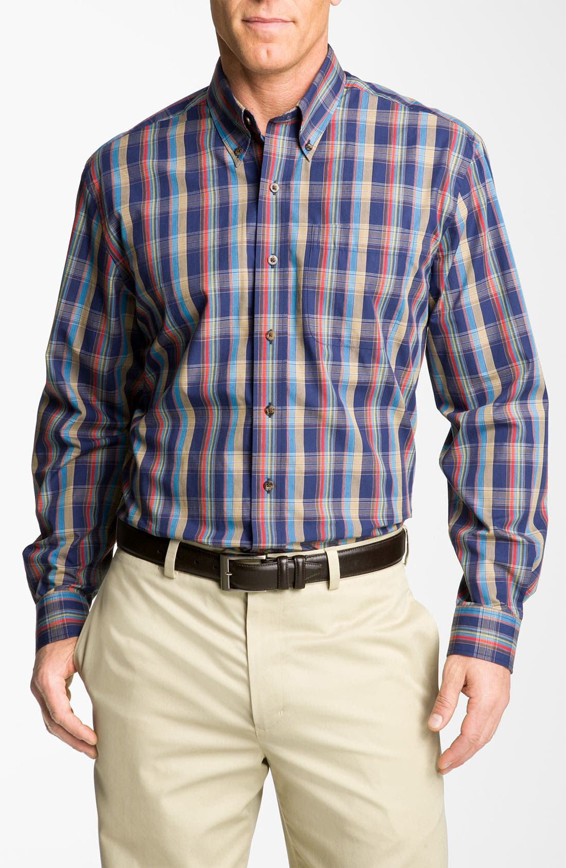 Main Image - Cutter & Buck 'Palouse' Plaid Sport Shirt (Big & Tall)