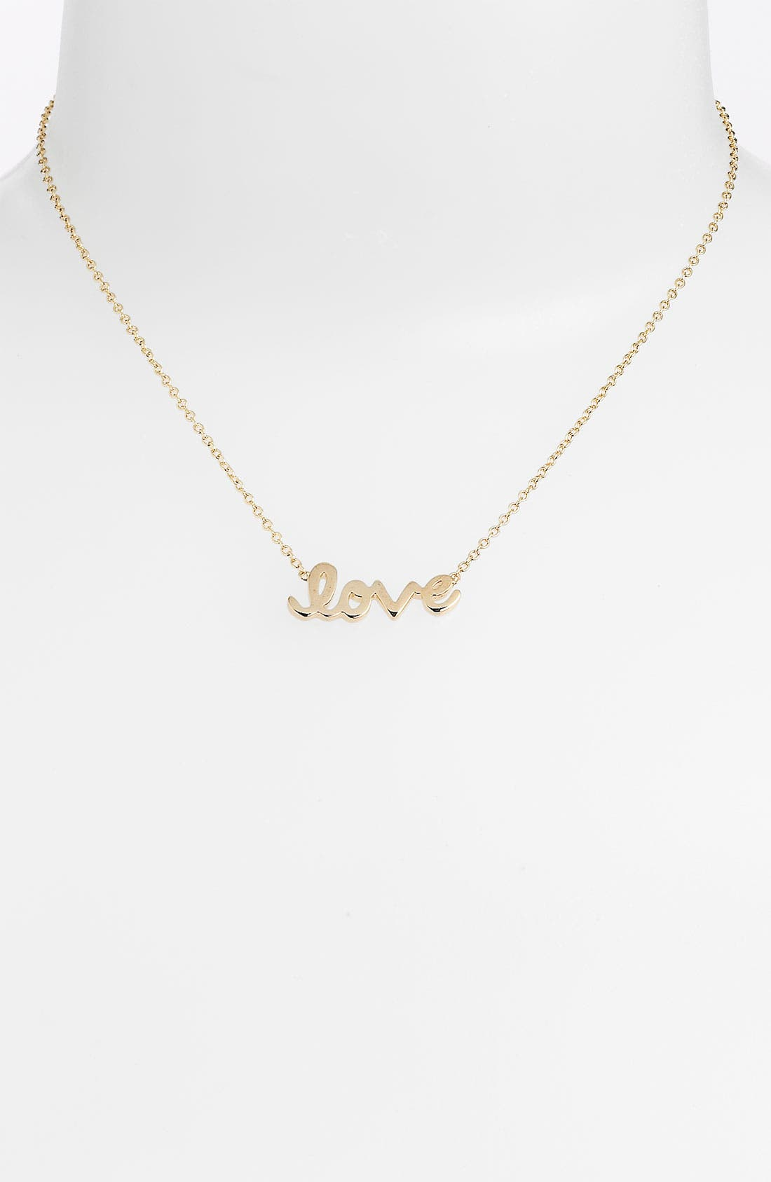 Main Image - Ariella Collection 'Messages - Love' Script Pendant Necklace (Nordstrom Exclusive)
